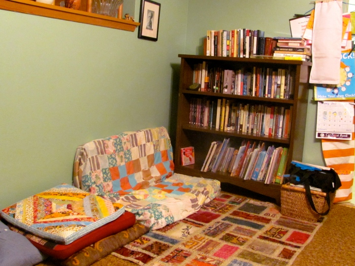 Our reading corner.